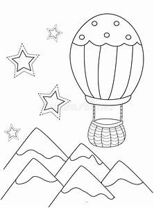 hot air balloon coloring page stock illustration With hotairschematic