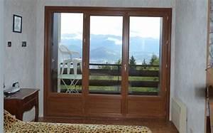 porte fenetre bois 3 vantaux lapeyre maison design With porte fenetre 3 vantaux bois