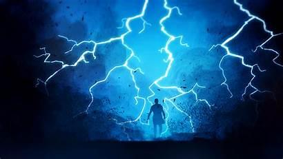 Lightning Thunder Fantasy Wallpapers Bolt Warrior 4k