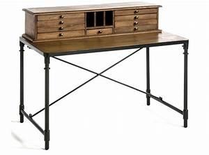 Bureau Vintage Pas Cher : bureau vintage pas cher bureau vintage pas cher hoze home bureau en m tal gris 3 tiroirs ~ Teatrodelosmanantiales.com Idées de Décoration