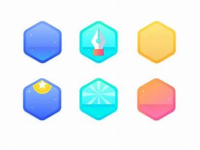 Achievement Animation Badges Dribbble Badge Ui Animations