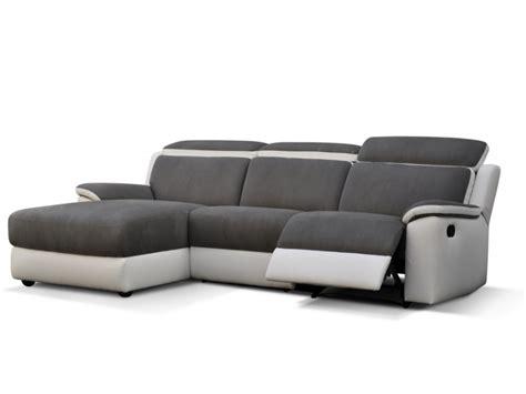 canapé avec relax canapé d 39 angle relax gris et blanc ou noir et blanc souffle