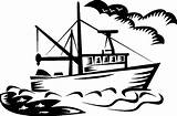 Coloring Boat Fishing sketch template