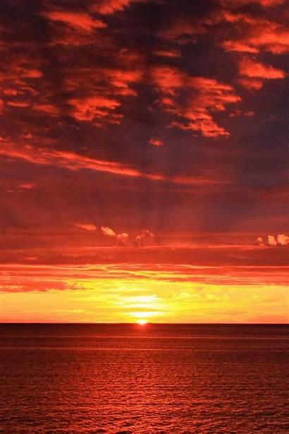 Sunrise Horizon Sun Sea Iphone Wallpapers Backgrounds
