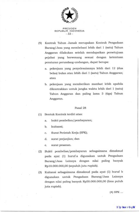 Peraturan presiden nomor 16 tahun 2018