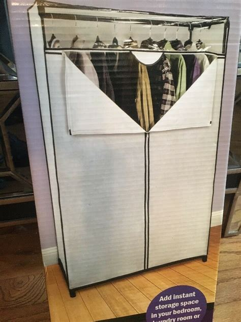 Portable Closet Rack by Heavy Duty Portable Closet Garment Storage Wardrobe