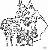 Llama Coloring Pages Printable Llamas South Peruvian Huge Activities Peru American Supercoloring Crafts Printables Cartoon Animal Getcoloringpages Select Category America sketch template