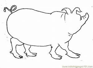 Pig Face Coloring Pages For Kids | freecoloring4u.com
