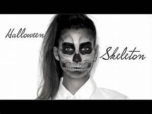 Maquillage Squelette Facile : lufy squelette maquillage halloween facile skeleton ~ Dode.kayakingforconservation.com Idées de Décoration