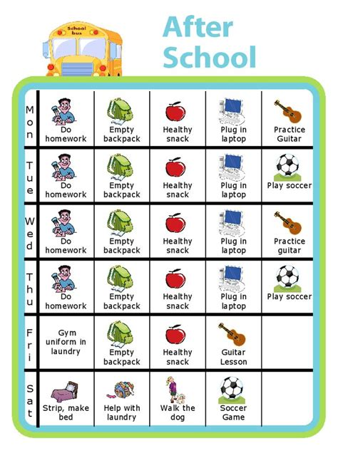 chore chart  lots   printable activities  kids  daily grind