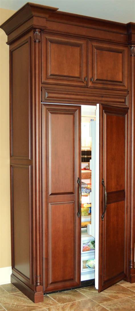 wood panel refrigerator kitchens kitchen refrigerator