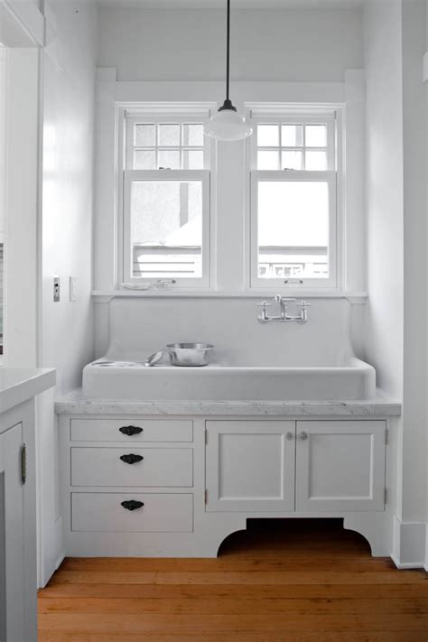 farmhouse utility sink laundry room eclectic  baskets
