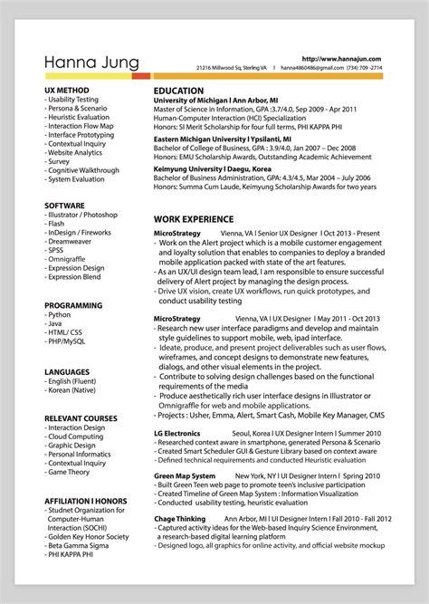 Graphic Design Resume Sles by Graphic Design Resume Pdf Designer Free Template
