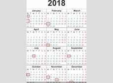 2018 Federal Holidays Calendar US Federal Government