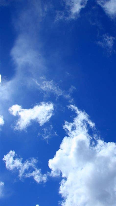 Android Lock Screen Blue Wallpaper Hd blue sky white clouds lockscreen android wallpaper free