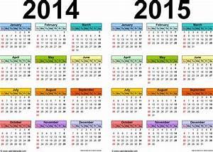 15 month calendar template - 2014 2015 calendar free printable two year excel calendars