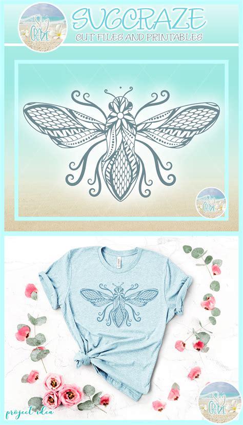 Bee mandala svg mandala svg mandala printable instant | etsy. Beautiful Bumble Bee Mandala Zentangle SVG Dxf Eps Png Files