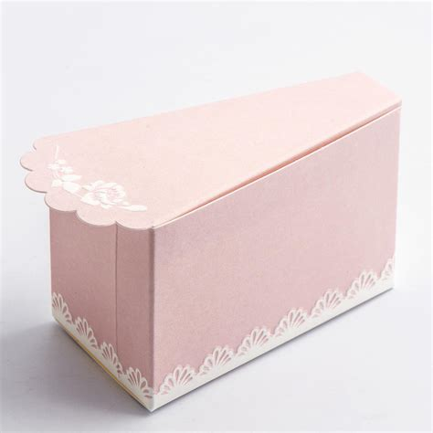 shabby chic box 10 pink shabby chic cake slice favour box favour fairy