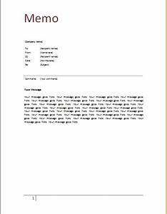 ms word memo template document templates With memo to file template
