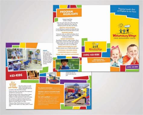 Preschool Brochure Template by 14 Daycare Brochure Templates Free Psd Eps