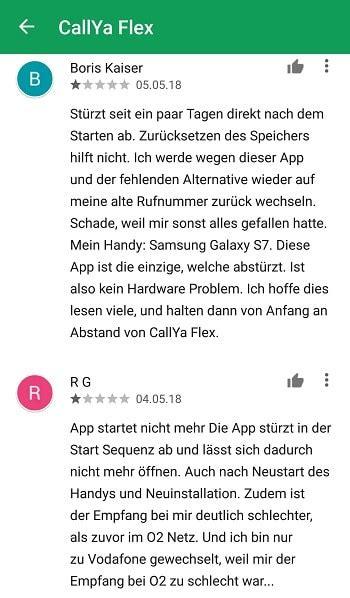 vodafone callya flex app laesst sich nicht oeffnen