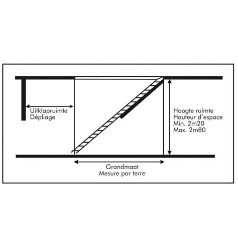 escalier escamotable isol 233 pour grenier trappe 120x60cm