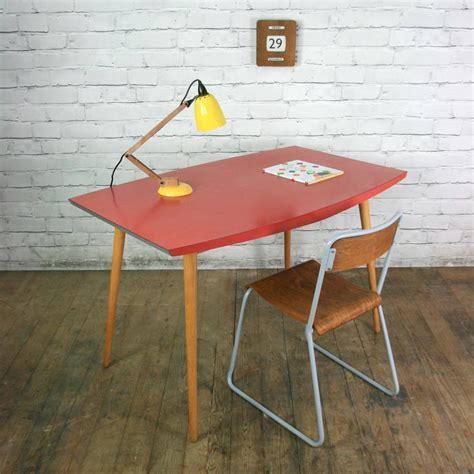 Vintage 1950s red formica vintage table or desk   Mustard