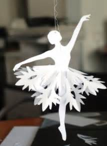 Ballerina Snow Flakes Paper Tutorial