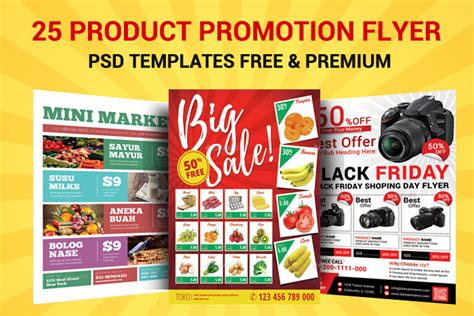 25 Product Promotion Flyer Psd Templates Free & Premium