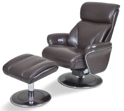 ergonomic leather espresso reclining chair ottoman from