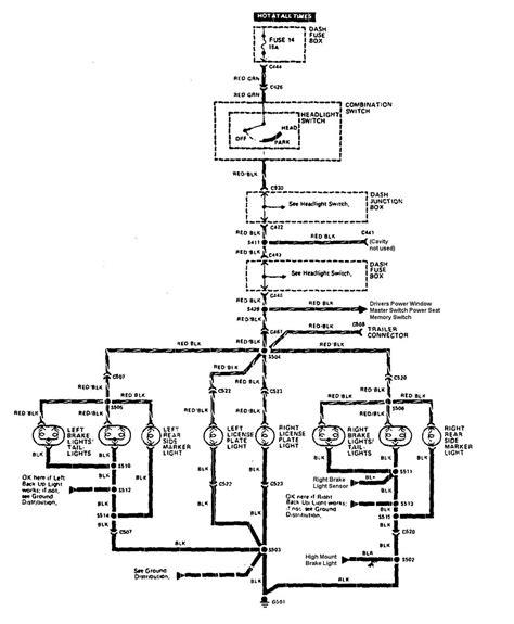 acura legend 1990 wiring diagram license plate l