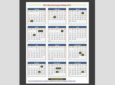 MCX Stock Exchange Holidays 2015 – Holidays Tracker