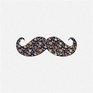 Funny Girly Mustache Pink Vintage Floral Pattern Art Print ...