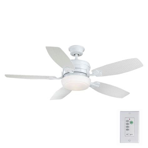 home depot white ceiling fan with remote home decorators collection merwry 52 in integrated led