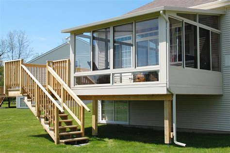 Elevated Sunroom Addition by Betterliving Sunrooms Patio Rooms Care Free Homes Inc