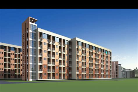 Multi-storey Residential Building 3D Model MAX 3DS
