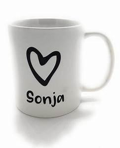 Kaffeetasse Mit Herz : tasse herz kaffeetasse mit wunschnamen landhaus tassen mit wunschname und ~ Yasmunasinghe.com Haus und Dekorationen