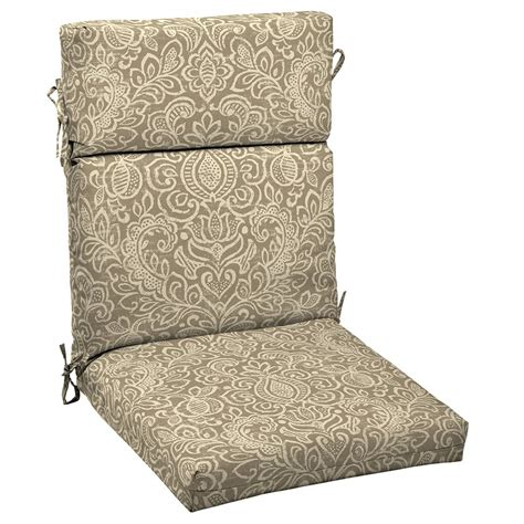 garden treasures neutral stencil high back chair cushion