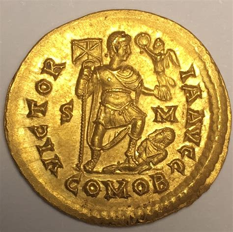 Solidus Ma by Av Solidus 393 395 Ad Empire R 246 Mische Kaiserzeit