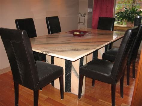 Dining Room Tables : Marble Dining Room Table #542