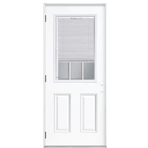 steel door lowes shop reliabilt blinds between the glass half lite prehung