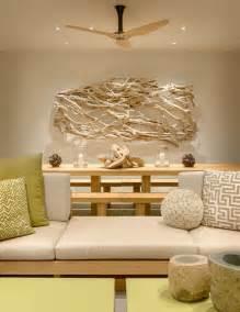 luxus badezimmer einrichtung treibholz deko im modernen interior strandvilla in kalifornien