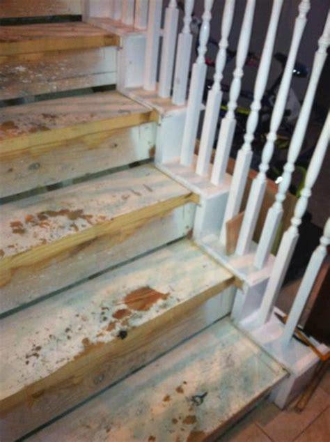 replacing carpet on stairs with laminate gaps in stair skirting when replacing carpeted stairs with hardwood doityourself com community