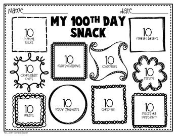 100th day of school freebie printables by mrs jones 100 | original 522374 2