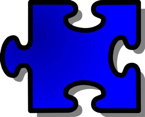 blue jigsaw puzzle piece clip art  clkercom vector