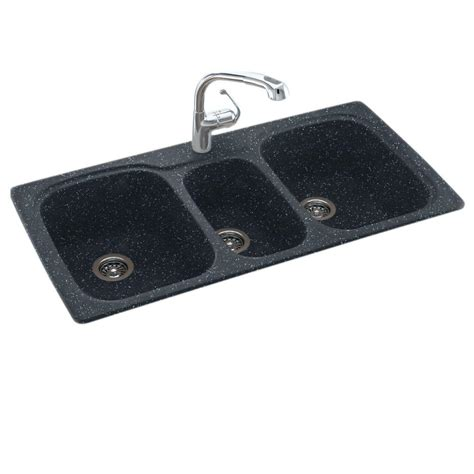 what is a triple bowl sink used for dual mount composite 44 in 1 hole triple bowl kitchen