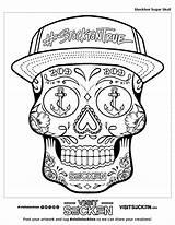 Coloring Skull Stockton Sugar California Visit sketch template