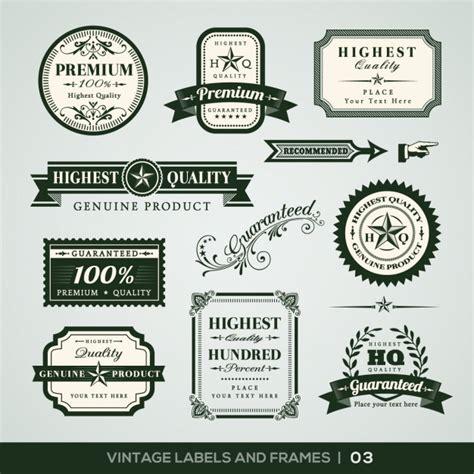 Cornici Per Etichette Vintage Etichette E Cornici Collezione Scaricare Vettori