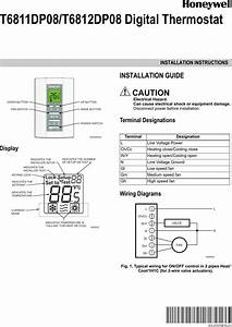 Honeywell Digital T6811dp08 Users Manual 62 0325es U201401