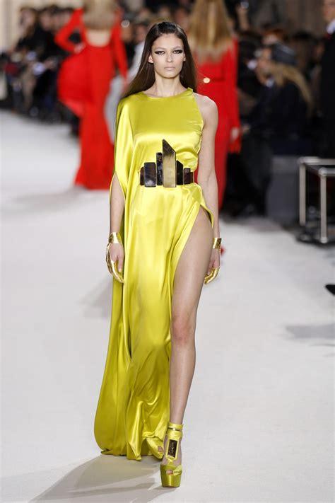 paris week couture haute spring summer rolland stephane dress lime looks creation presents designer french ibtimes tessier benoit reuters
